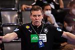 Alfred Gislason (Trainer Handball Nationalmannschaft Deutschland) ; EHF EURO-Qualifikation / EM-Qualifikation / Handball-Laenderspiel: Deutschland - Estland am 02.05.2021 in Stuttgart (PORSCHE Arena), Baden-Wuerttemberg, Deutschland, Photo: Sandy Dinkelacker 2021<br /> <br /> Foto © PIX-Sportfotos *** Foto ist honorarpflichtig! *** Auf Anfrage in hoeherer Qualitaet/Aufloesung. Belegexemplar erbeten. Veroeffentlichung ausschliesslich fuer journalistisch-publizistische Zwecke. For editorial use only.