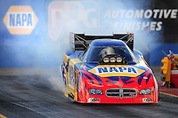 Jan 24, 2009; Chandler, AZ, USA; NHRA funny car driver Ron Capps during testing at the National Time Trials at Firebird International Raceway. Mandatory Credit: Mark J. Rebilas-