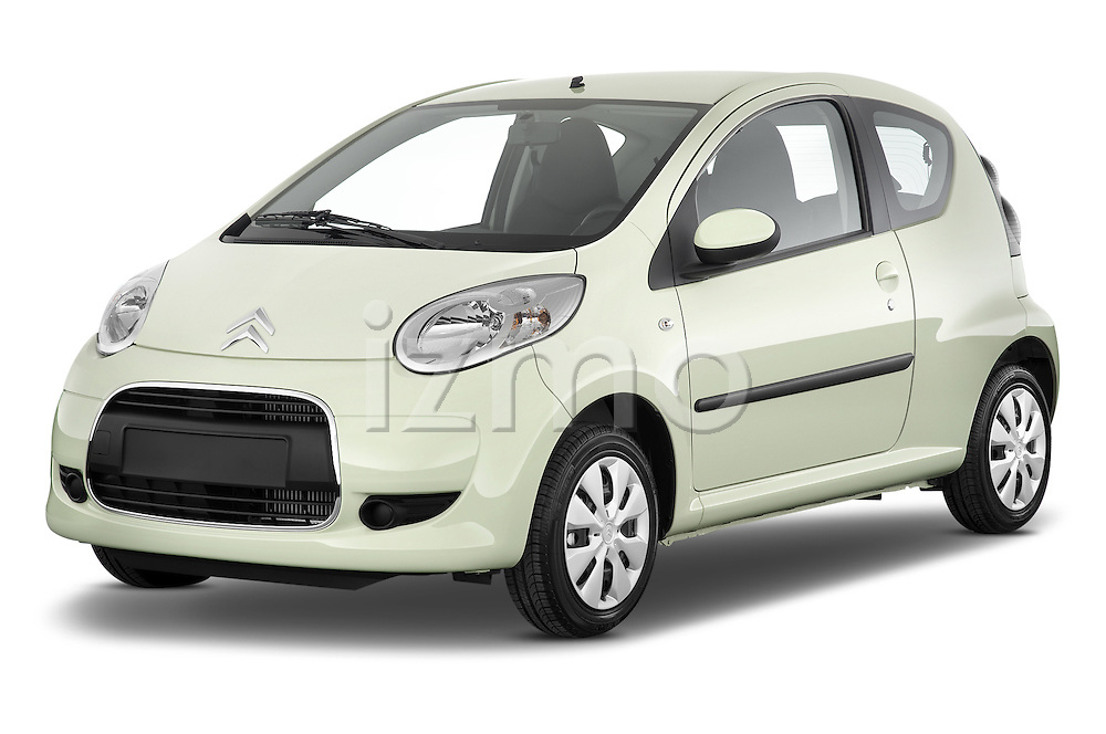 Front three quarter view of a 2009 - 2012 Citroen C1 Airplay 3-Door Hatchback.