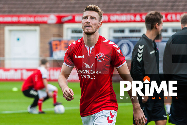 Fleetwood Town's defender James Husband (26) during the Sky Bet League 1 match between Fleetwood Town and Bradford City at Highbury Stadium, Fleetwood, England on 1 September 2018. Photo by Stephen Buckley / PRiME Media Images.