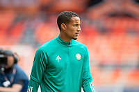 22nd August 2020; Tannadice Park, Dundee, Scotland; Scottish Premiership Football, Dundee United versus Celtic; Christopher Jullien of Celtic during the warm up before the match