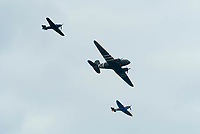 BNPS.co.uk (01202 558833)<br /> Pic: Graham Hunt/BNPS<br /> Date: 2nd September 2021.<br /> <br /> Battle of Britain memorial flight in action on day 1 of Bournemouth Air Festival in Dorset on a warm overcast day.
