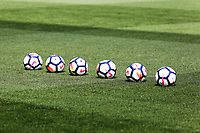 Match balls on the pitch during the Premier League match between Swansea City and Everton at The Liberty Stadium, Swansea, Wales, UK. Saturday 14 April 2018