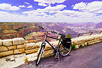 Cycling, Hermit Road, Rim Trail, South Rim, Grand Canyon National Park, Arizona, USA  Along the Rim Trail, south of Visitor Center and Mather Point.