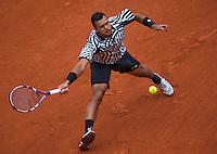 Paris, France, 24 June, 2016, Tennis, Roland Garros,  Jo-Wilfried Tsonga (FRA)<br /> Photo: Henk Koster/tennisimages.com