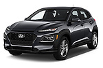 2020 Hyundai Kona SE 5 Door SUV Angular Front automotive stock photos of front three quarter view
