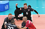Austin Hinchey, Mickael Bartholdy, Darek Symonowics, and Jesse Buckingham, Lima 2019 - Sitting Volleyball // Volleyball assis.<br />