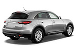 Passenger sider rear three quarter view of a 2013 Infiniti FX 37 RWD.