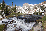 Mitchell Creek exits Isabelle Lake in Indian Peaks Wilderness Area. <br />