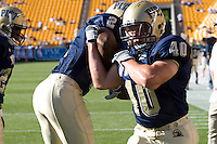 01 September 2007:Pittsburgh linebacker Scott McKillop (40)..The Pitt Panthers defeated the Eastern Michigan Eagles 27-3 at Heinz Field, Pittsburgh, Pennsylvania.