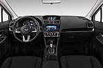 Stock photo of straight dashboard view of a 2017 Subaru XV Premium 5 Door SUV