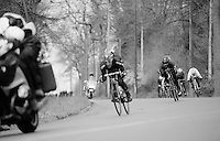the breakaway group escapes at high speed<br /> <br /> 102nd Liège-Bastogne-Liège 2016