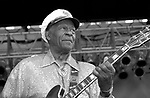 Chuck Berry appears live in Union County new Jersey during the Union County Music Fest.  Mr Berry appeared with his son on guitar and daughter on backup vocals