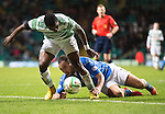 Celtic v St Johnstone.....04.03.15<br /> Lee Croft battles with Mubarak Wakaso<br /> Picture by Graeme Hart.<br /> Copyright Perthshire Picture Agency<br /> Tel: 01738 623350  Mobile: 07990 594431