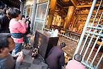 People praying at Longshan Temple, Taipei, Taiwan