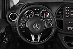 Car pictures of steering wheel view of a 2018 Mercedes Benz Metris Passenger-Van 5 Door Passenger Van Steering Wheel