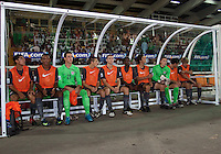 USMNT U17 on the bench. Spain defeated the U.S. Under-17 Men National Team  2-1 at Sani Abacha Stadium in Kano, Nigeria on October 26, 2009.
