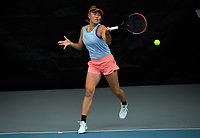 Women's Doubles final - Tabitha Porter and Vivian Zixuan Yang (pictured) v Stella Cliffe and Sarah Kate Weekley. 2020 New Zealand Championships Wellington Tennis Open finals at Renouf Centre in Wellington, New Zealand on Sunday, 20 December 2020. Photo: Dave Lintott / lintottphoto.co.nz