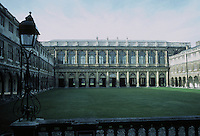 """Sir Christopher Wren: The Wren Library, Trinity College, Cambridge. Begun 1676. After """"Sansovino's Library of St. Mark in Venice"""". Photo '82."""