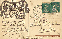 Pablo Picasso on a postcard... in the form of a sketch of a Xmas dinner on sale for £30K