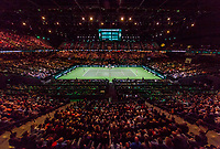 Rotterdam, The Netherlands, 17 Februari, 2018, ABNAMRO World Tennis Tournament, Ahoy, Tennis, Overall vieuw Arena with Semi final single, Andreas Seppi (ITA), Roger Federer (SUI)<br /> <br /> Photo: www.tennisimages.com