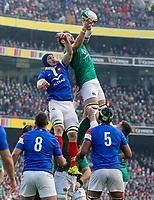 Sunday10th March 2019 | Ireland vs France<br /> <br /> Iain Henderson during the Guinness 6 Nations clash between Ireland and France at the Aviva Stadium, Lansdowne Road, Dublin, Ireland. Photo by John Dickson / DICKSONDIGITAL