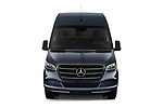 Car photography straight front view of a 2019 Mercedes Benz Sprinter-Fourgon - 4 Door Cargo Van Front View