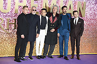 """Ben Hardy, Roger Taylor, Rami Malek, Brian May, Joe Mazzello and Gwilyn Lee<br /> arriving for the """"Bohemian Rhapsody"""" World premiere at Wembley Arena, London<br /> <br /> ©Ash Knotek  D3455  23/10/2018"""