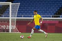 22nd July 2021; Stadium Yokohama, Yokohama, Japan; Tokyo 2020 Olympic Games, Brazil versus Germany; Diego Carlos of Brazil comes out of defense on the ball