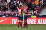 Atletico de Madrid's Amanda Sampedro (L) and Silvia Meseguer (R) during Liga Iberdrola match between Atletico de Madrid and FC Barcelona at Wanda Metropolitano Stadium in Madrid, Spain. March 17, 2019. (ALTERPHOTOS/A. Perez Meca)