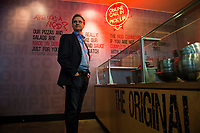 Portrait of MOD Pizza CEO Scott Svenson at one of their locations in downtown Seattle, Washington. The pizza chain has expanded around the globe at a brisk pace.<br /> Photo by Daniel Berman.