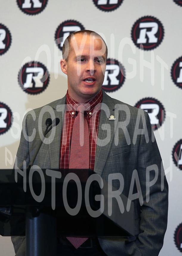 Rick Campbell Head Coach Ottawa RedBlacks 2013. Photo Scott Grant