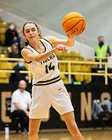 Samantha Rhuda (14) of Bentonville passes ball against Springdale Har-ber at Tiger Arena, Bentonville, AR January 5, 2021 / Special to NWA Democrat-Gazette/ David Beach