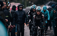 defending champion Michal Kwiatkowski (POL/SKY) to the start<br /> <br /> 12th Strade Bianche 2018<br /> Siena > Siena: 184km (ITALY)