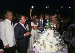 MATRIMONIO SIMONA FEDE E VITTORIO MARZOTTO - CAPRI 1986