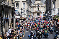 peloton rolling out of Reimes <br /> <br /> Stage 4: Reims to Nancy(215km)<br /> 106th Tour de France 2019 (2.UWT)<br /> <br /> ©kramon