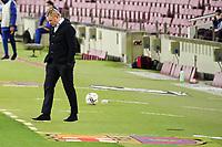 4th October 2020; Camp Nou, Barcelona, Catalonia, Spain; La Liga Football, Barcelona versus Sevilla; Barcelona manager Ronald koeman watches as his team fall behind