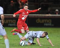 KV Kortrijk - KV Mechelen : duel tussen Brecht Dejaegere (links) en Anthony Van Loo .foto VDB / BART VANDENBROUCKE