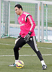 Real Madrid's Keylor Navas during training session.January 30,2015.(ALTERPHOTOS/Acero)
