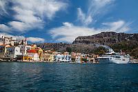 Cruise ship docked at Kastellorizo, Greece
