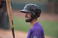 Colorado Rockies outfielder David Dahl (36) on deck during an Extended Spring Training game against the Arizona Diamondbacks at Salt River Fields at Talking Stick on April 16, 2018 in Scottsdale, Arizona. (Zachary Lucy/Four Seam Images)