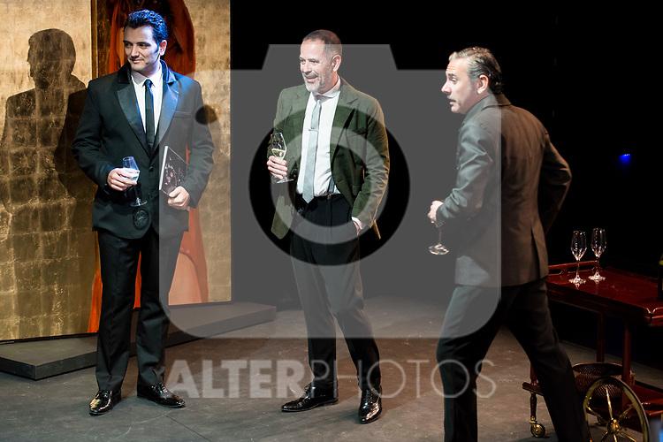 "Fran Calvo, Orancio Ortega and Jose Emilio Vera during the theater play of ""Addio del Passato"" at Fernan Gomez Theater in Madrid. March 15, 2017. (ALTERPHOTOS/Borja B.Hojas)"