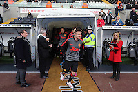 SWANSEA, WALES - FEBRUARY 21: Wayne Rooney of Manchester exiting the tunnel prior to the Barclays Premier League match between Swansea City and Manchester United at Liberty Stadium on February 21, 2015 in Swansea, Wales.