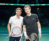 Februari 13, 2015, Netherlands, Rotterdam, Ahoy, ABN AMRO World Tennis Tournament, Gilles Simon (FRA) - Andy Murray (GBR)<br /> Photo: Tennisimages/Henk Koster