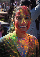 Holi Festival of Colors, Redmond, WA, USA.