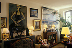 Bernard Buffet French artist expressionist painter (1928-1999) France Circa 1995. Interior of his home in Tourtour France. 1994.