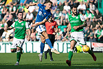 Hibs v St Johnstone….24.08.19      Easter Road     SPFL <br />Callum Hendry shoots for goal<br />Picture by Graeme Hart. <br />Copyright Perthshire Picture Agency<br />Tel: 01738 623350  Mobile: 07990 594431