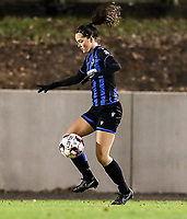 Saar Verdonck (6) of Club Brugge does a control during a female soccer game between FC Femina White Star Woluwe and Club Brugge YLA on the eleventh matchday of the 2020 - 2021 season of Belgian Scooore Womens Super League , Friday 22 January 2021  in Woluwe , Belgium . PHOTO SPORTPIX.BE   SPP   SEVIL OKTEM