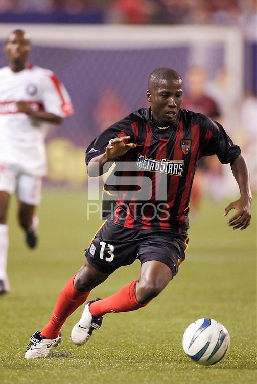 The MetroStars' Cornell Glen. The Chicago Fire played the NY/NJ MetroStars to a one all tie at Giant's Stadium, East Rutherford, NJ, on May 15, 2004.