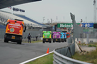 2nd September 2021: Circuit Zandvoort,  Zandvoort, Netherlands; The sweepers are still removing the last sand from the track Formula 1 Heineken Dutch Grand Prix 2021, 13th round of the 2021 FIA Formula One World Championship
